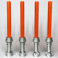 4 x STAR WARS lego TRANSLUCENT ORANGE LIGHTSABERS jedi sith WEAPONS new GENUINE