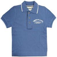 Timberland SS Kids Children Boys Cotton Blue Polo Shirt T2D26 484 R3