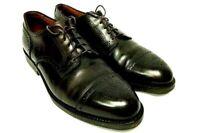Alden Mens Shoes Model 958 Medallion Captoe Blucher Size 10D Burgundy Calfskin