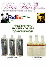 G.Hair Inoar German Keratin Treatment Brazilian Kit 3 X 1 Lt Free Shipping FedEx