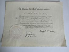 Rare Official President Dwight Eisenhower State Consul Appointment Document 1954