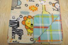 Monkeys Giraffes Elephants Zebras Baby Blanket Can Personalize Double Sided