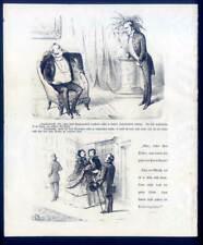 Karikatur - Lithographie von 1855