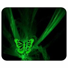 Neon Green Butterfly Mousepad Mouse Pad Mat