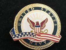 US UNITED STATES NAVY WHITE ROUND FLAG PINCRAFT PIN