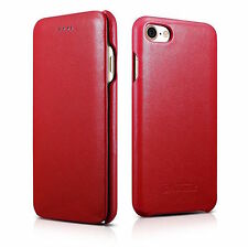 """ICARER LUXURY Curved Edge Design Leather Cover For APPLE iPhone 7 4.7"""" RED H8992"""