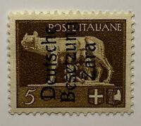 1943 BESETZUNG ZARA ITALY STAMP MICHEL #1 GERMAN OCCUPATION OVERPRINT, MH