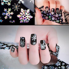 Fancy Colot Snowflake Nail Art Sticker Christmas Foils Transfer Decals Decor