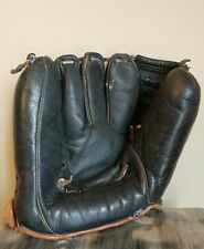 Vintage COOPER WEEKS Twin Anchored Web Black Leather Baseball Glove Mitt