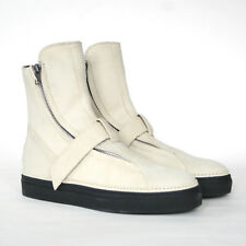 ANN DEMEULEMEESTER off-white suede leather strap sneakers zipper shoes 39 NEW