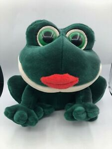 Russ Berrie Smooches Frog Plush Kids Soft Stuffed Toy Animal Doll With Sound