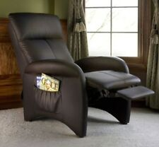 Brown Recliner Chairs Armchair Arm Chair Recliners Faux Leather Vinyl Reclining