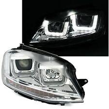 2 PHARES DEVIL EYES VW GOLF 7 BERLINE SW 11/2012 A 1/2017 CHROME U LED