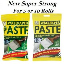 NEW ROLL WALLPAPER PASTE SUPER STRONG STICK ADHESIVE ALL PURPOSE (5/10 Rolls)