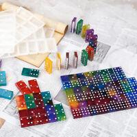DIY Crystal Epoxy Resin Craft Molds Domino Mirror Silicone Glue Mold