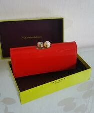Genuine Ted Baker Cecilie Bright Orange Pearl Bobble Leather Matinee Purse BNWT