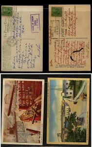Canal  Zone  2  color post cards , US army censor  1942    KL1201
