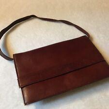 Vintage Maroon Leather Purse Shoulder Bag Clutch Evening Bag