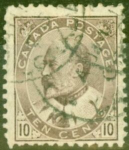 Canada 1903 10c Brown-Lilac SG182 Good Used (1)
