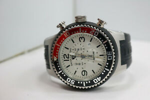 Swiss Legend Neptune Men's Chronograph Coke Bezel Watch 52mm New Batt