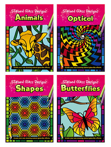 Stained Glass Designs Colouring Book - Green Board Game Co.