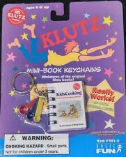 KLUTZ Kids Cooking MINI-BOOK Keychain by Basic Fun Toy Book Barbie Measure Spoon