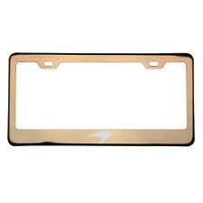 Rose Gold Laser Etched Mclaren Logo License Plate Frame T304 Stainless Steel New