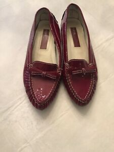 Marc Jacobs Red Patent Leather Flats Size 8 Shoes