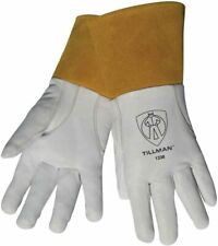 Tillman 1338 Top Grain Goatskin Tig Welding Gloves With 4 Cuff Size Sm Xl