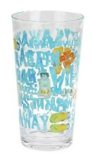 Margaritaville Icon Highball Glass Glasses Clear Plastic Set of 4 Jimmy Buffet