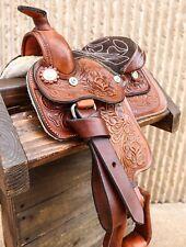"8"" Toddler Mini Horse Pony Brown Saddle"
