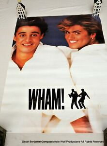 WHAM! George Michael/Andrew Ridgeley 1984 Poster!  20X27!  Original!  Unused!