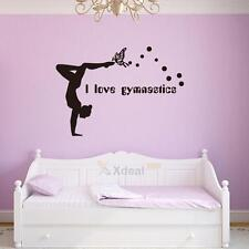 I Love Gymnastics Dancing Butterfly Wall Stickers Girls Bedroom Wall Decor  Decal Part 86