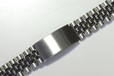Both 18mm & 20mm JUBILEE STYLE LINK WATCH BRACELET, Stainless Steel CONDOR B103C