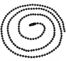 Collier Chaine Boules 70 cm Noir Métal chaîne en 2 mm
