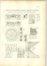 1893 Huit roues Express Passenger Locomotive Hudson River Railroad dessins