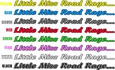1 X Little Miss Road Rage Car Truck Land Rover Off Road 4x4 Decal Sticker Camper