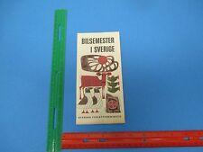 International Travel Brochure,Bilsemester I Sverige Svenska Turistforeninge S863