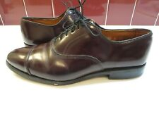 Allen Edmonds Park Avenue Brown Cap Toe Oxfords Shoes Vibram Sole 8.5 D