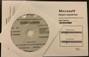 SQL Server Standard 2016  16 Core License Key DVD & COA ,Brand New Sealed