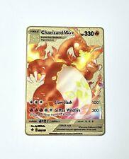 Charizard Vmax 74/73 Champion's Path Gold Metal Pokemon Card Custom Red