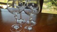 Elegant Crystal Cordial Glasses Stems Vintage Column stem 4 4 oz stems