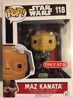 "Funko Pop~ Star Wars~ Maz Kanata ~#118~""Target Exclusive""~ The Force Awakens~4"""