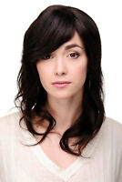 OUJF10558 pretty  medium fancy style women Wig health dark brown wavy hair wigs