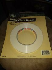 4 Rolls White Bag Sealing Poly Tape 3/8 inch x 180 yards - Free Shipping