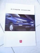 Citroen Evasión 1995 18p ventas folleto prospekt catálogo