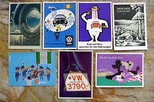 VW Factory Beetle post cards, circa 1956; set of 7, guaranteed original