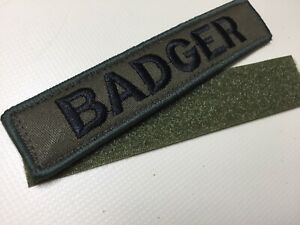"Custom Embroidered Name Patch Hook And Loop 5""x1"" Tact AirSoft Paintball 🇬🇧"