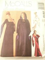 Vintage 2000 Sewing Pattern Lined Evening Gown & Lined Cape Size 4-6-8- Uncut