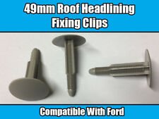 10x Clips For Ford Transit 2006 - 2013 49mm Grey Top Roof Headlining 1417997